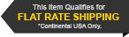 This Item Qualifies for Flat Rate Shipping