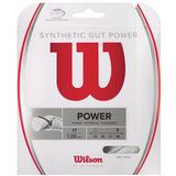 Wilson Synthetic Gut Power 17 Tennis String Set - White