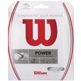 Wilson Synthetic Gut Power 16 Tennis String Set - White